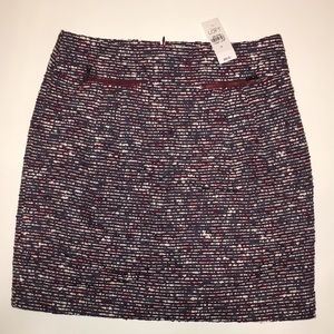 Loft - Tweed Zip Pocket Skirt - 0